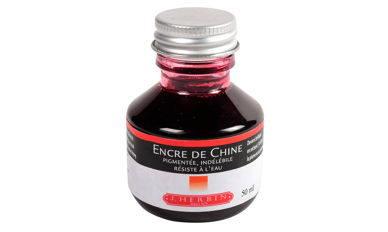 Encre de Chine Herbin, en flacon de 50 ml