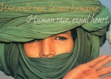 "Carte "" Human race, equal heart "" : Enfant au turban vert"
