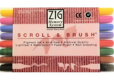 "Assortiment Couleur de Feutres de Calligraphie  "" Scroll and Brush """