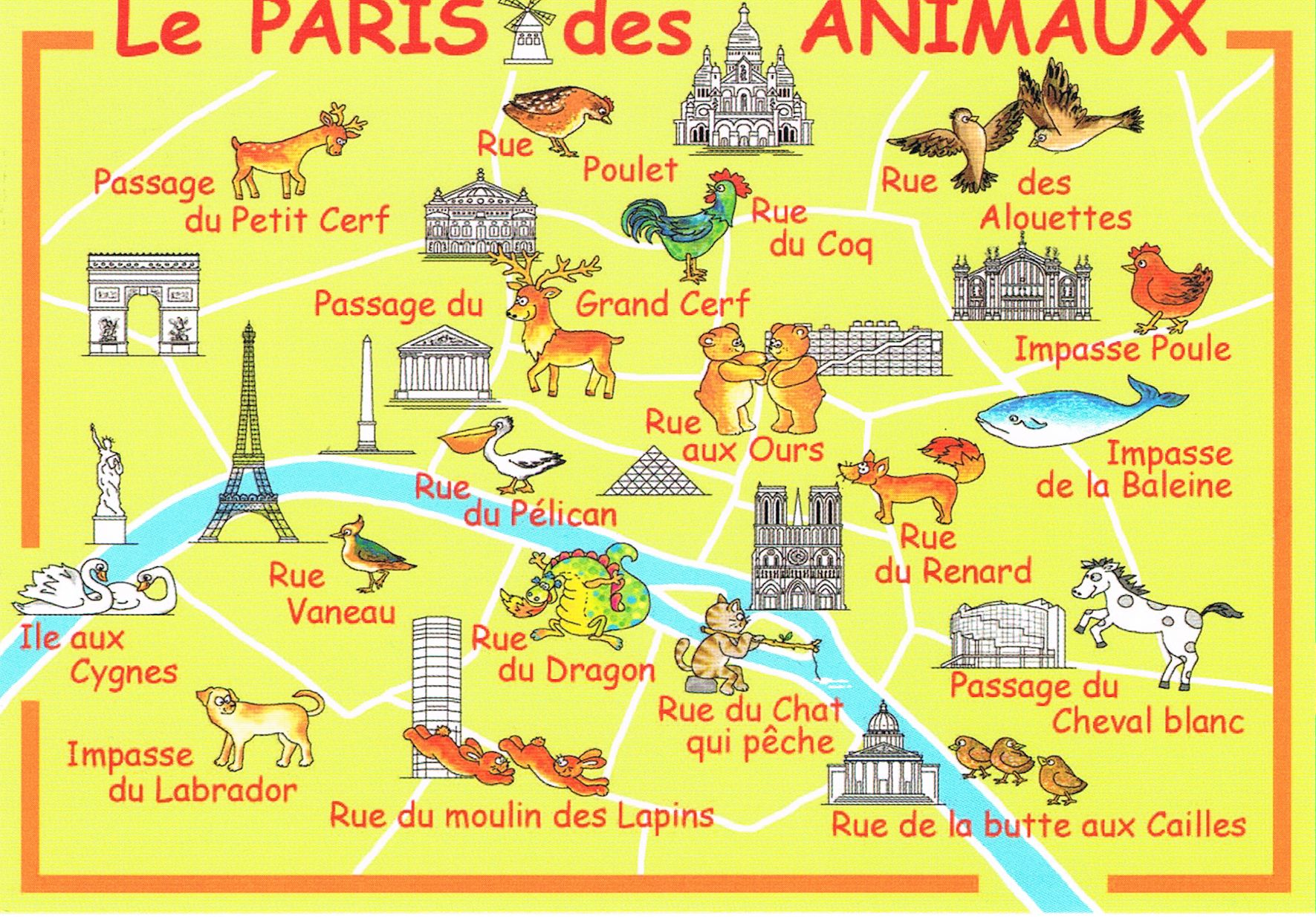 "Carte "" Le Paris des Animaux """
