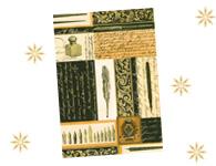 Bloc '' Calligraphie Noir et Or ''